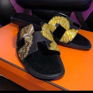 Hermès Silk Sandals
